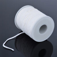 60M/Roll Spool of Cotton Square Braid Candle Wicks Wick Core Candle Making BJ