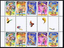 2007 - Australia - Circus Under the Big Top - gutter strip of 10 - MNH