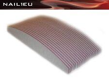 20 x Crescent File 100/100 Zebra, 30mm/180mm/Trapezoid trapezfeilen Nail Files