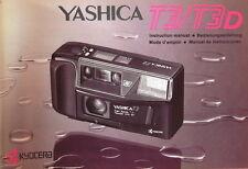 Yashica T3/T3D Bedienungsanleitung instruction manual - (0840)