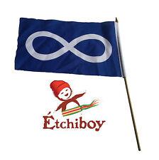 (2 Pack) Small Blue Métis Flag Petit Drapeau Métis Bleu Étchiboy