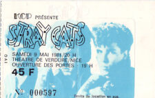 ticket billet used stub place concert STRAY CATS 1981 Nice FRANCE