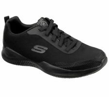 Slipon Skechers Black Shoes Work Men's Comfort Slip Resistant Memory Foam 77512