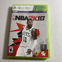 NBA 2K18 (Microsoft Xbox 360, 2017) Complete Video Game Free Ship Good Condition