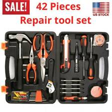 42X Tool Set Kit Mechanic Hand Tools Socket Screwdriver Basic Home Household Box