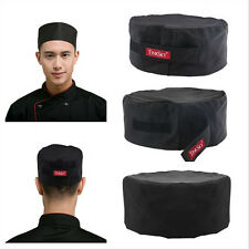 Breathable Mesh Top Skull Cap Professional Catering Chefs Hat w/Adjustable Strap