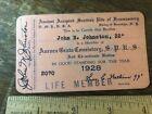 Masonic Ancient Scottish Rite Member Card 1928 Brooklyn New York Ephemera