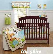 Baby Bedding Crib Cot Quilt Set- 10pcs Quilt Bumper Sheet Dust Ruffle Blanket