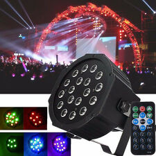 54W 6CH RGB Club DJ Party DMX Stage Lighting LED Par Projector Light w/ Remote