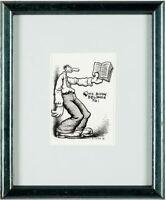 Robert Crumb - Unpublished Bookplate Illustration Original Art Drawing (1972)