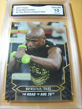 FLOYD MAYWEATHER 2017 TOPPS NOW ROAD TO AUG. 26 # 6 GRADED 10  L@@@K