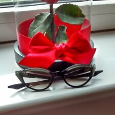 Vintage spectacle cat eye frame with mother of pearl and rhinestones