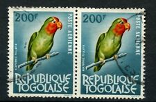 Togo 1964 SG#393, 200f Bird Used Pair #A58487