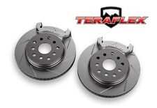 TeraFlex Front Performance Big Rotor Kit Slotted Rotors 07-17 Jeep Wrangler JK