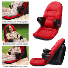 Portable Leisure Inflatable Sofa Chair W Footrest Stool Outdoor Furniture Seat