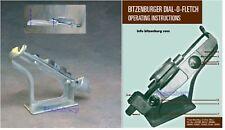 BITZENBURGER RIGHT HELICAL PROFESSIONAL CARBON or ALUMINUM ARROW FLETCHING JIG