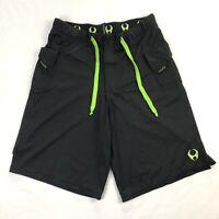 Hylete Mens Medium Black Cargo Crossfit Training Gym Shorts