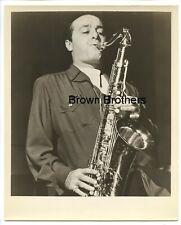 Vintage 1940s American Jazz Saxophonist Flip Phillips w/Saxophone Photo
