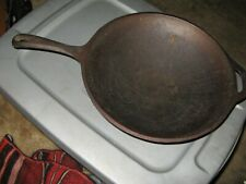 "12 1/2"" Cast Iron Wok Pan with Long Handle"