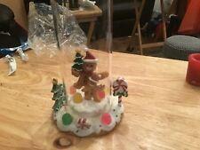 Yankee candle hurricane gingerbread Christmas votive burner new in box