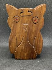Owl Wooden Puzzle Box Wood Decorative Jewelry Trinket Box Hand Carved