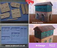 OO Gauge Model Railway Scenery DT05 Roof Ridges pipes and toppers Mould