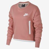 Nike Wmns Tech Fleece Crew Sweatshirt New Light Pink Women Sportswear 939929-685