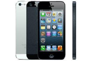 Apple iPhone 5 - 16 32 64 GB - Silver/Black Unlocked   SIM Free Smartphone