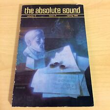 The Absolute Sound Issue Volume 11 Number 41, 1986 Goldmund Sota Turntable