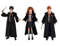 Harry Potter Doll Lot Set of 3 Hermoine Ron NEW