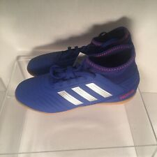 Adidas Boys Predator 19.3 In J Indoor Turf Soccer Shoes Blue Size 4.5 New Nwt