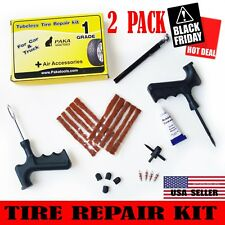 2 PACK - 23 pc Tire Repair Kit DIY Flat Tire Repair Car Truck Motorcycle