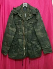 NWT Abercrombie & Fitch Mens Camo Military Field Jacket Parka ~ L