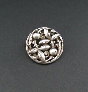 Beautiful Genuine Antique Solid Silver ARTS & CRAFTS Brooch