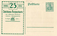 DR, 5 Pfg. Germania, Privatganzsache Silberhochzeit des Königspaares