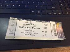 2013 GOLDEN STATE WARRIORS VS HEAT TICKET STUB 1/16 LEBRON JAMES 20,000 POINTS
