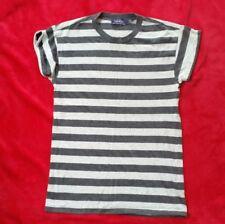 Topman  grey marl stripe rolled sleeved T shirt.-Mens XXS