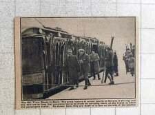 1923 Norwegian Ski Train Skis Fixed On Rack Side Of Coach