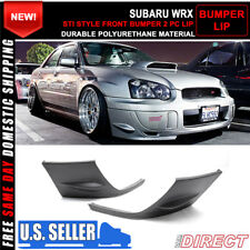Fit For 04-05 Subaru Impreza WRX Front Bumper Lip Spoiler STI 2 Piece PU