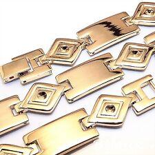 BRACELET GOURMETTE pour homme DICK en plaqué or 18 carats - L21.5 CM