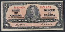 1937 CANADA 2 DOLLARS BANK NOTE GORDON / TOWERS