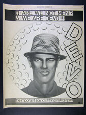 1978 DEVO Are We Not Men? We Are Devo! album promo vintage print Ad