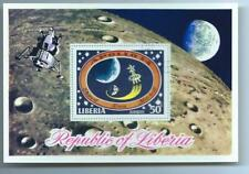 Liberia - Airmail - The 3rd Manned Moon Landing - Apollo 14 1971 - Mnh