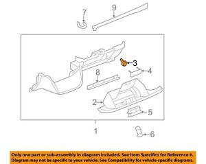 GM OEM Glove Compartment Box-Bumper 15683368