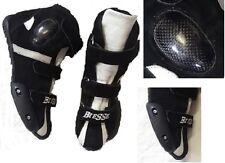 Stivaletti Per Minimoto Bimbo in Pelle Con Protezioni Adulto Bambini Kid Boots