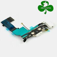 For iPhone 5S Charging Port Unit & Mic Audio Headphone Jack Flex Cable White