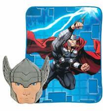 "Nogginz Thor Pillow and Blanket Set - 60"" x 90"" -  NEW - Marvel's Avengers"