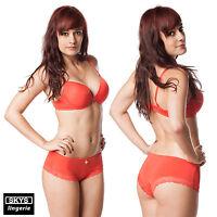 Amélie ensemble soutien-gorge push-up boxer orange skys lingerie 90C / M
