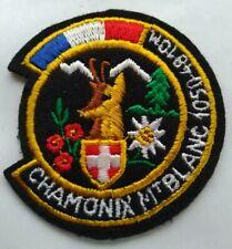ECUSSON CHAMONIX MONT-BLANC 1050-4810 M♦️ Brodé ♦️