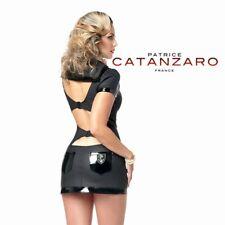 Patrice Catanzaro - Oceane - Robe courte sexy moulante en néoprène noir